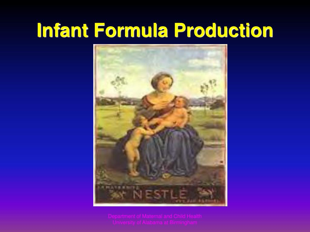 Infant Formula Production