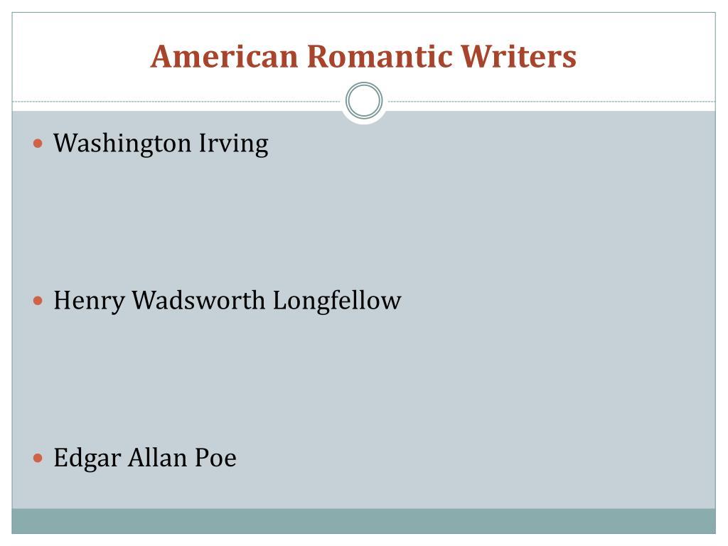 American Romantic Writers