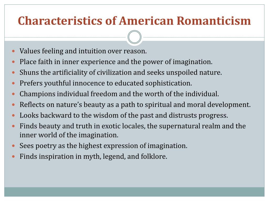 Characteristics of American Romanticism