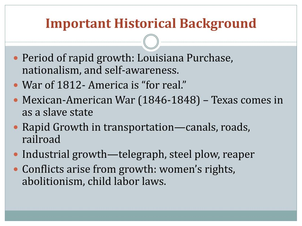 Important Historical Background
