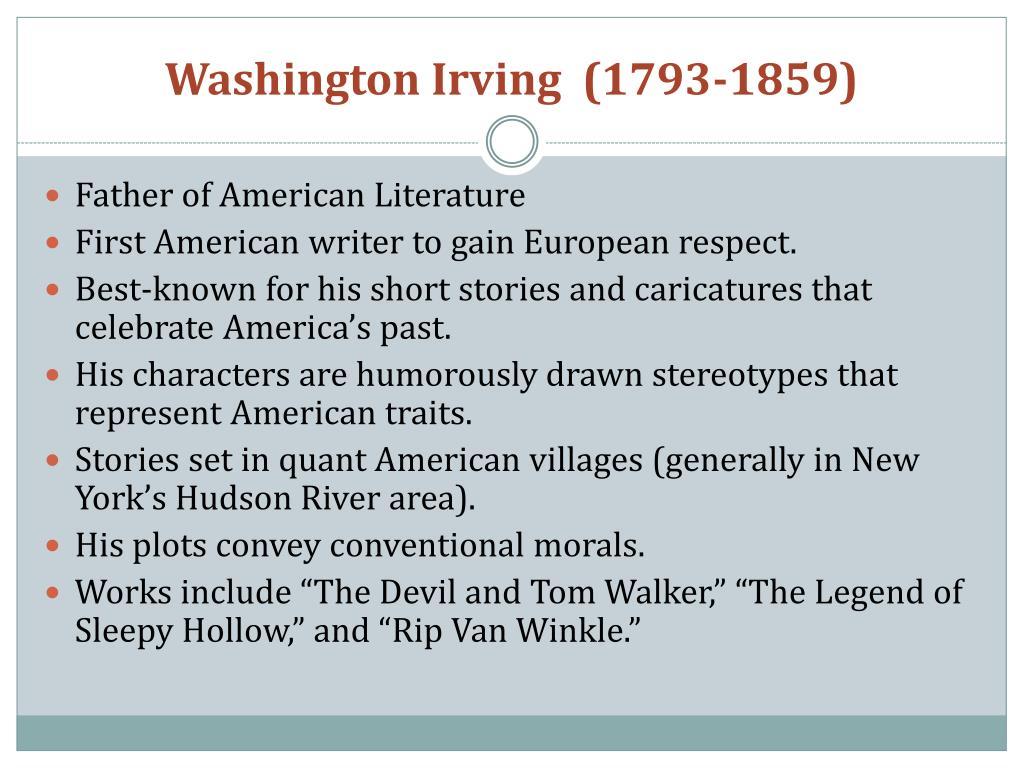 Washington Irving  (1793-1859)