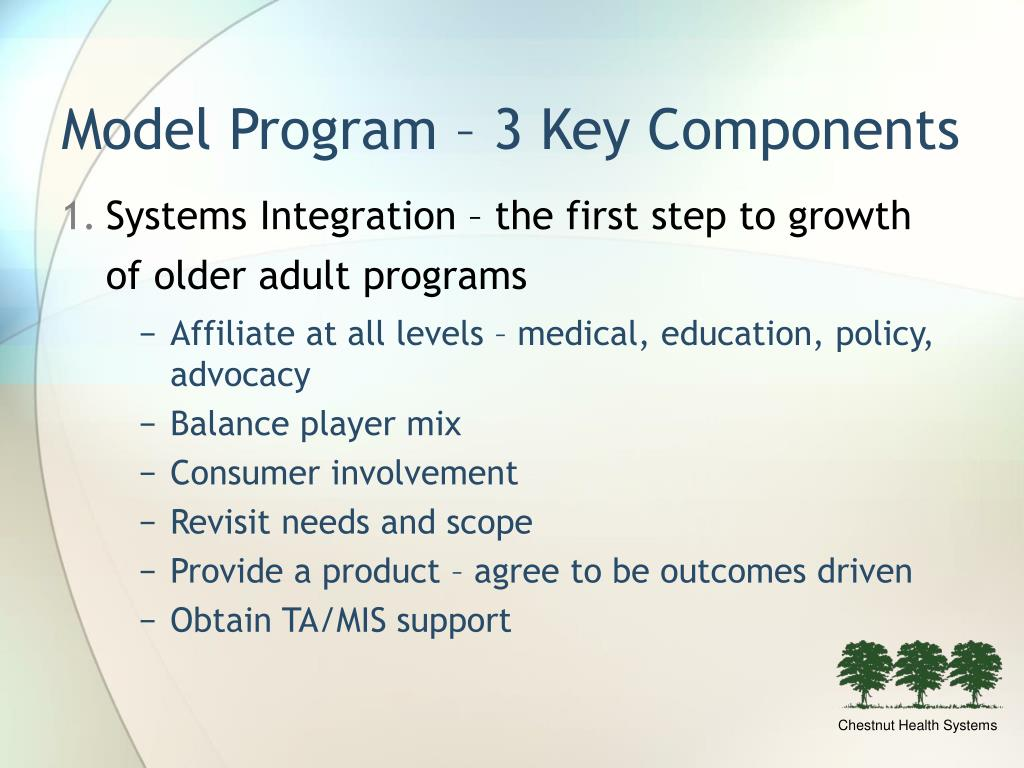 Model Program – 3 Key Components
