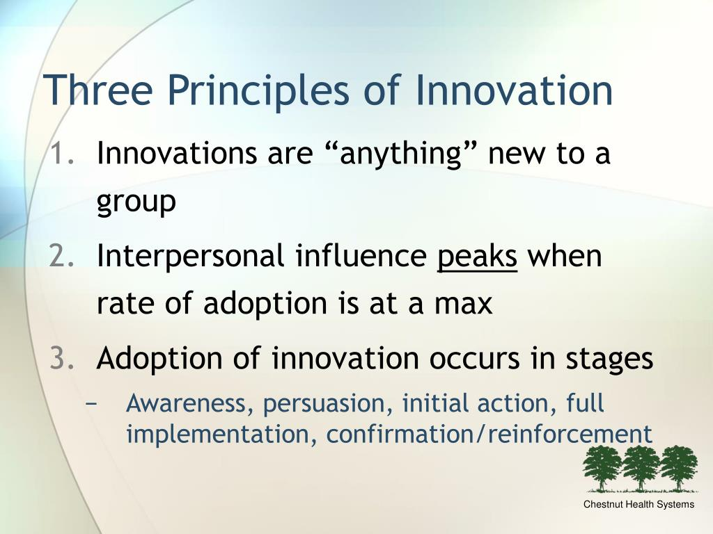 Three Principles of Innovation