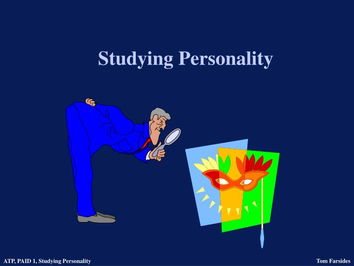 Studying personality