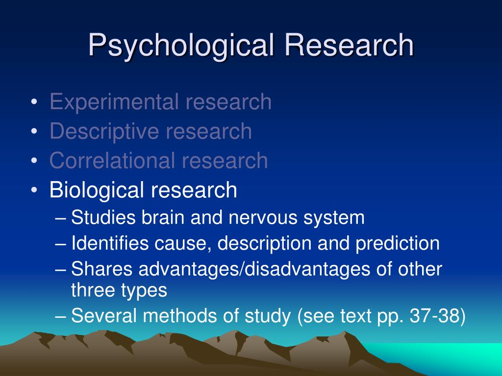 Psychological Research