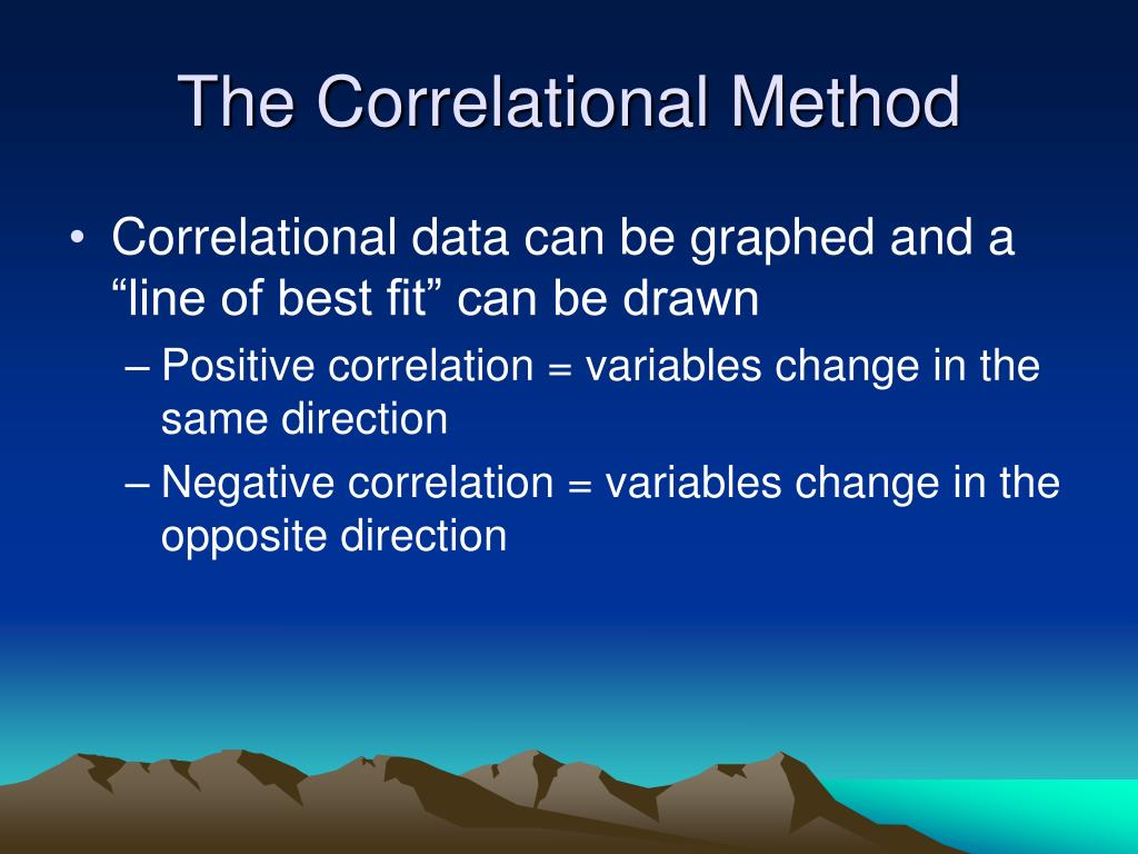 The Correlational Method