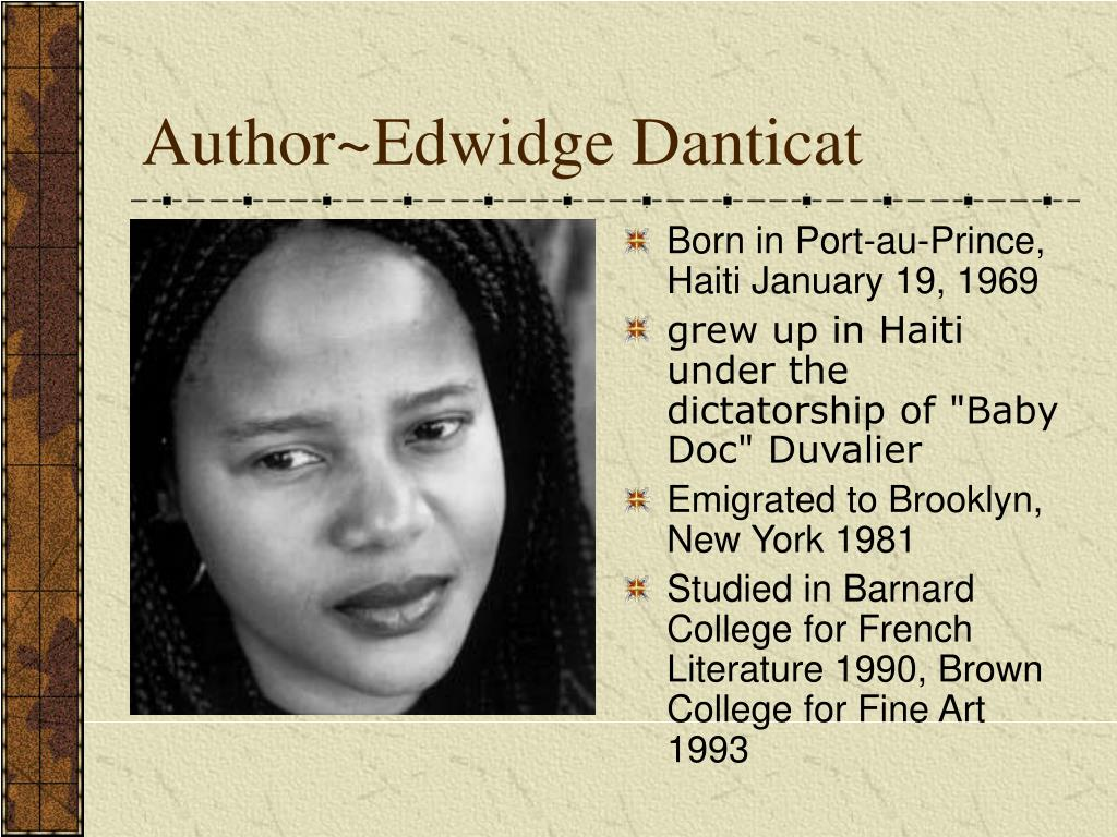 Author~Edwidge Danticat