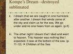 kompe s dream destroyed sublimated