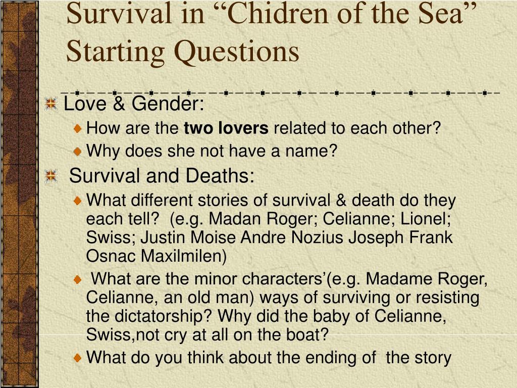 "Survival in ""Chidren of the Sea"""