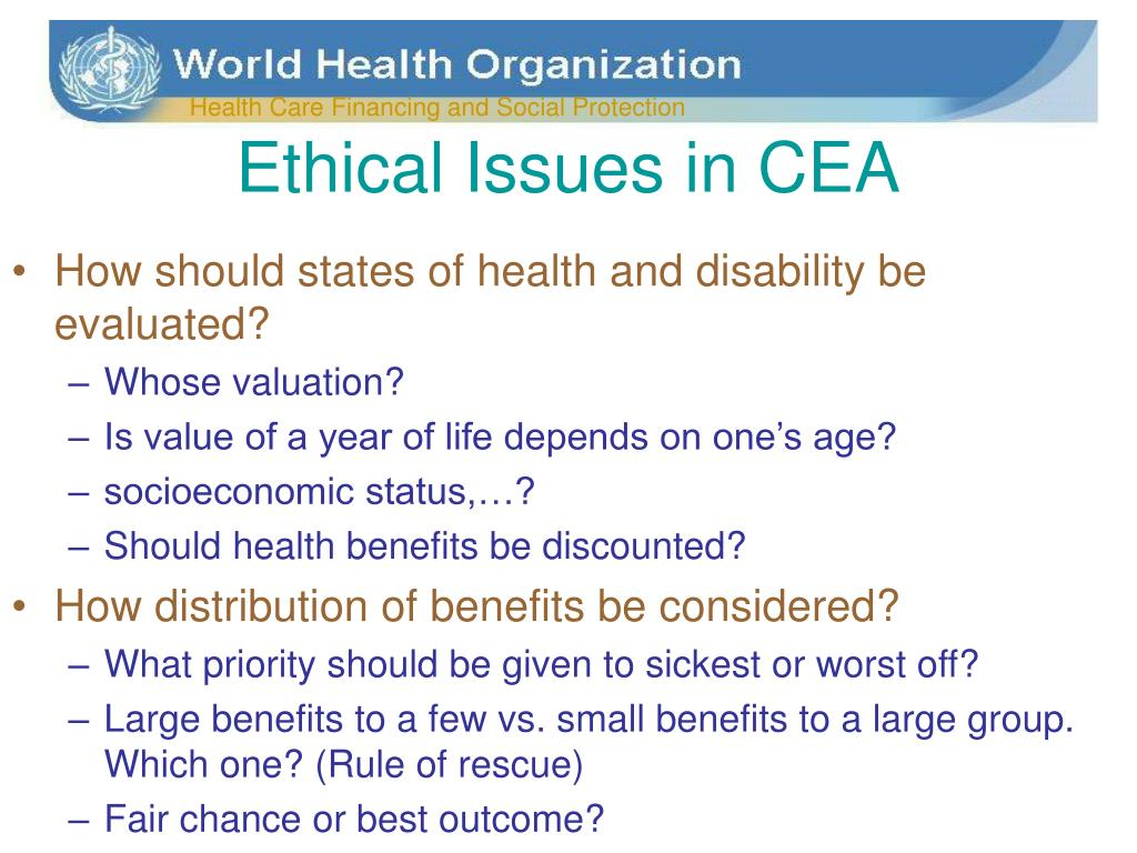Ethical Issues in CEA