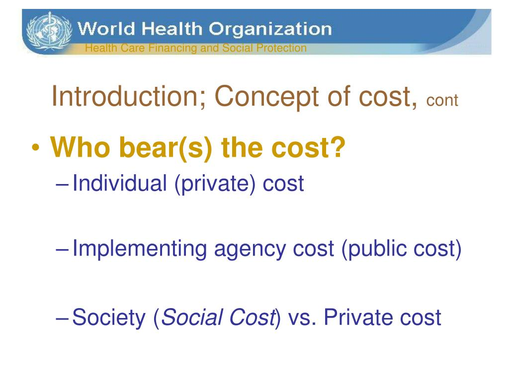 Introduction; Concept of cost,