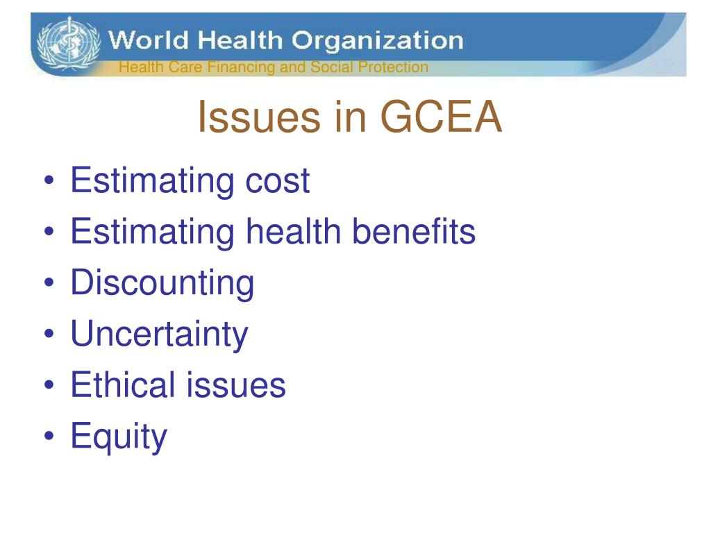 Issues in GCEA