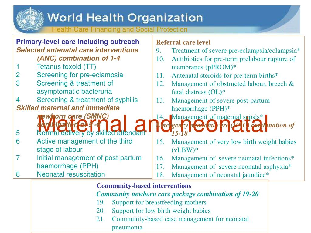 Maternal and neonatal
