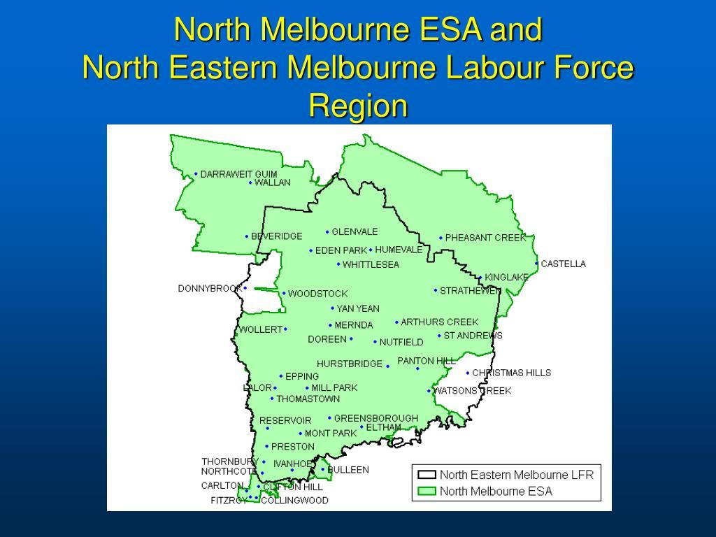 North Melbourne ESA and