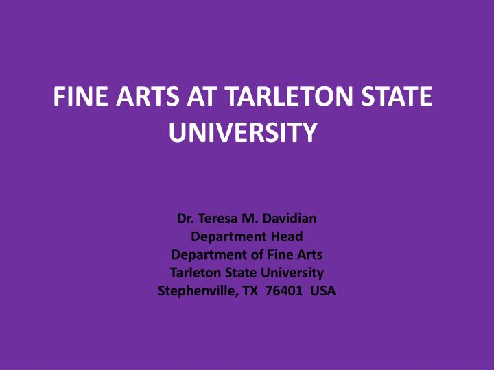 Fine arts at tarleton state university