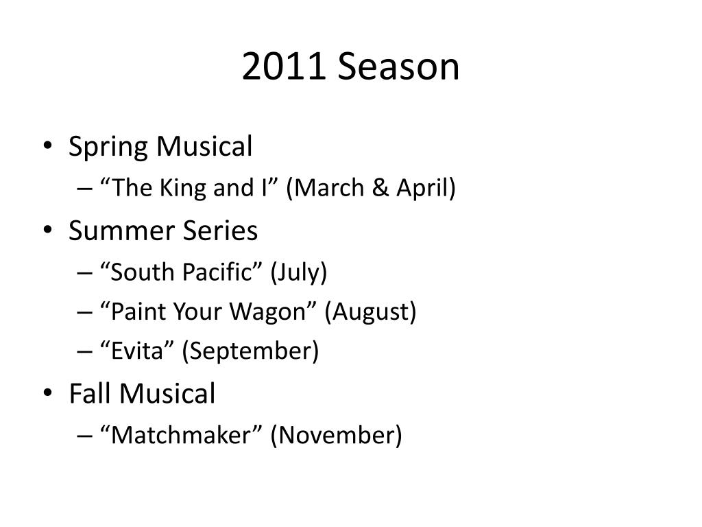 2011 Season