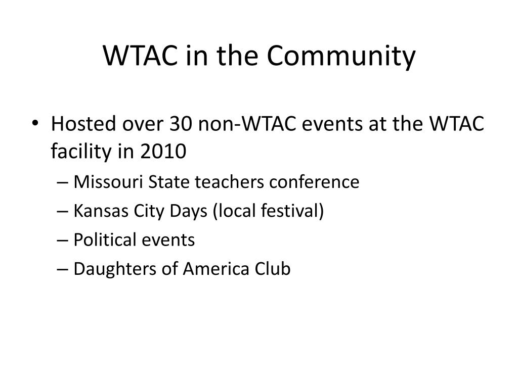WTAC in the Community