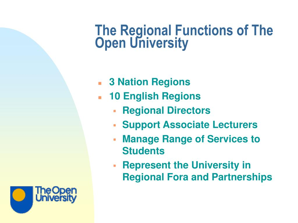 The Regional Functions of The Open University