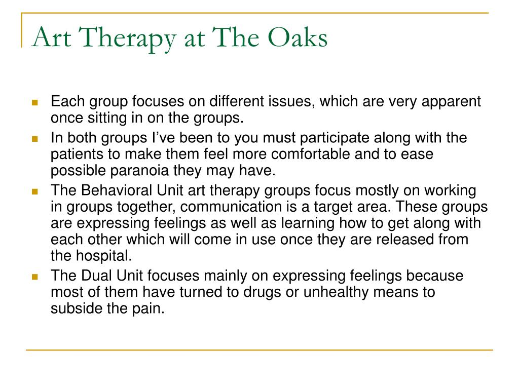 Art Therapy at The Oaks