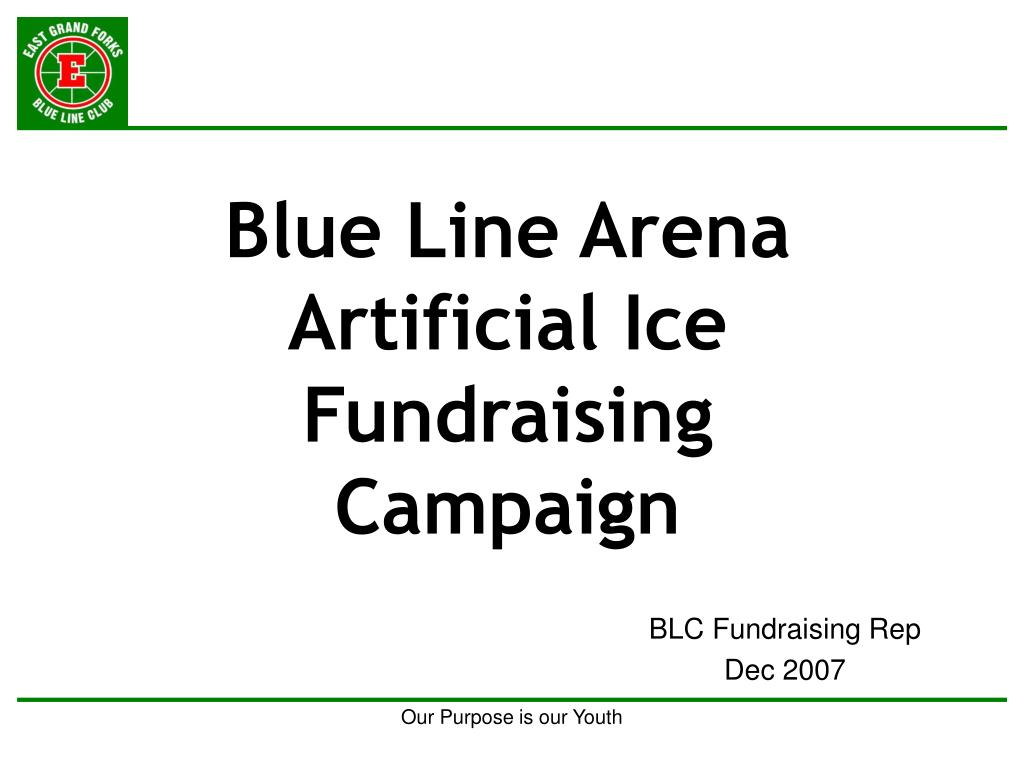 Blue Line Arena Artificial Ice Fundraising Campaign