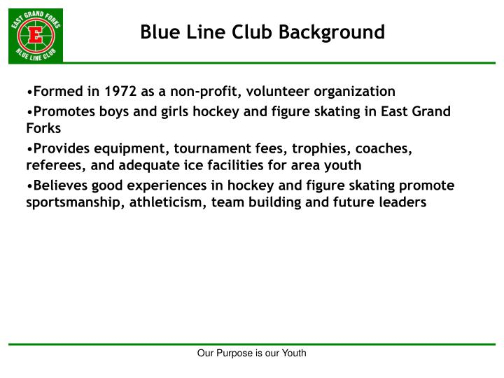 Blue line club background