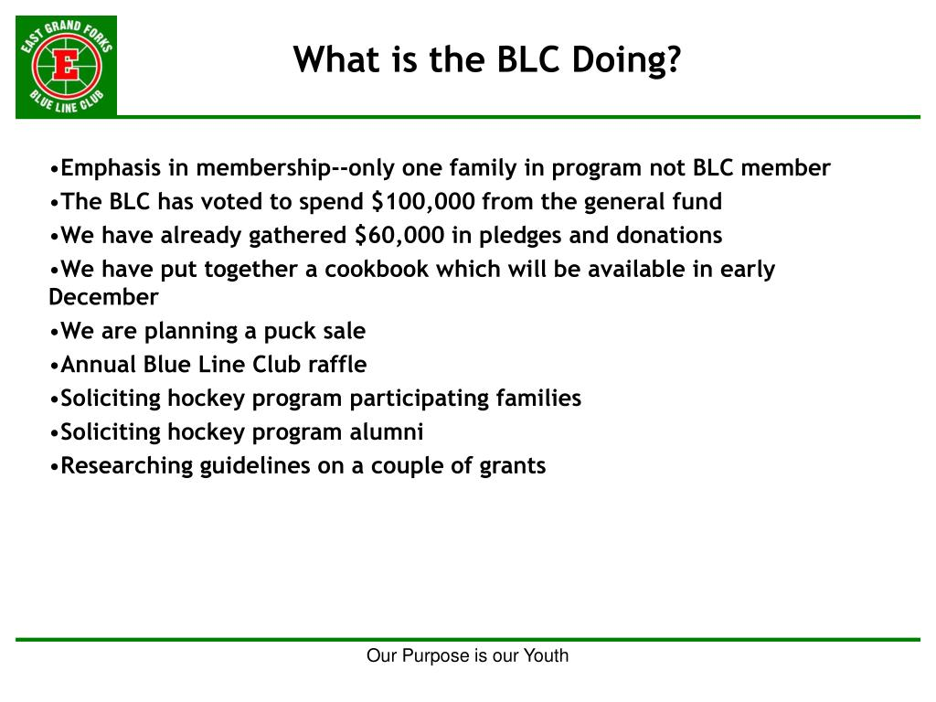 What is the BLC Doing?