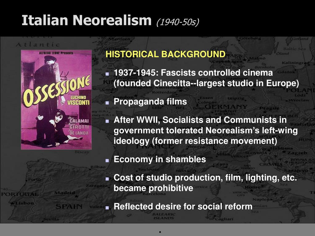 italian neo realism If fascist italy covered up the truth about italian society with their white telephone films, italian neorealism was a post-fascist and late-fascist attempt.
