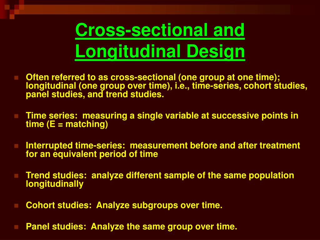 Cross-sectional and