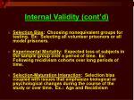 internal validity cont d11