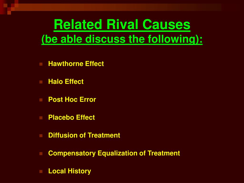 Related Rival Causes