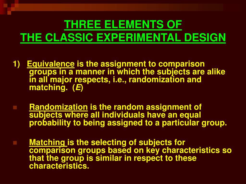 THREE ELEMENTS OF