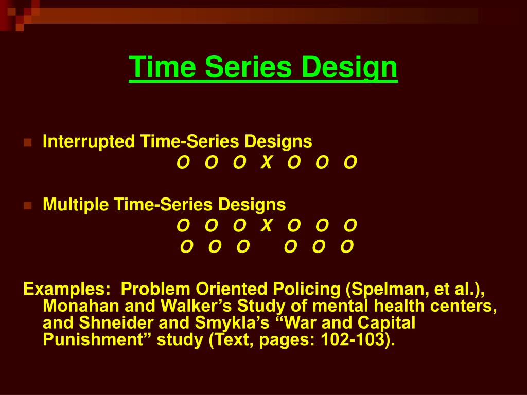 Time Series Design