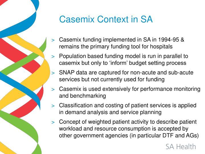 Casemix Context in SA