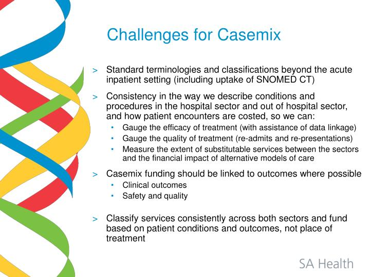 Challenges for Casemix
