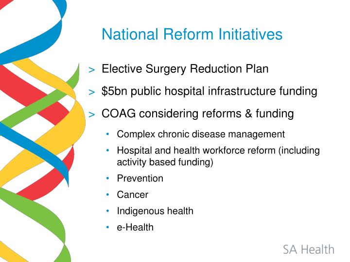 National Reform Initiatives