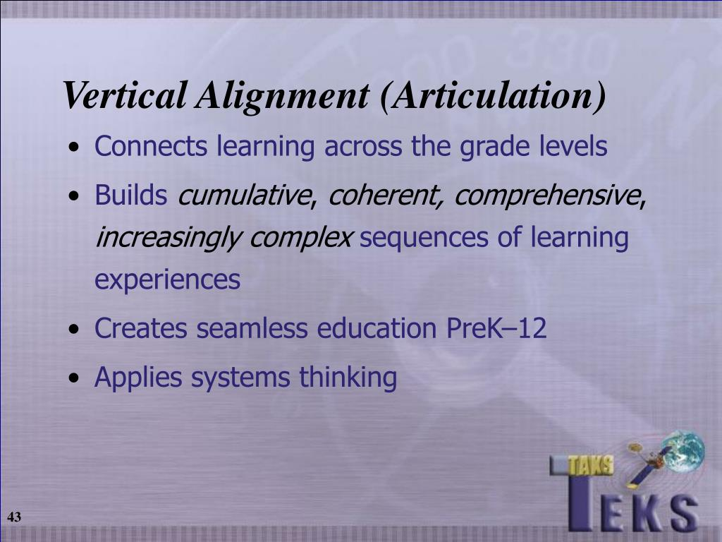 Vertical Alignment (Articulation)