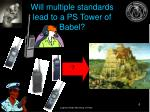 will multiple standards lead to a ps tower of babel