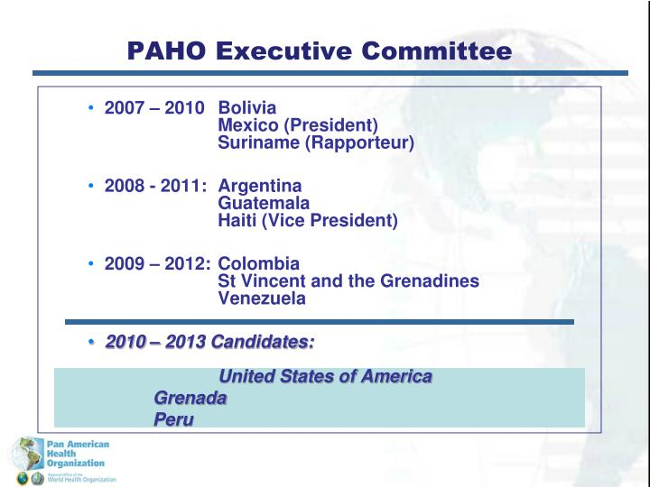 Paho executive committee