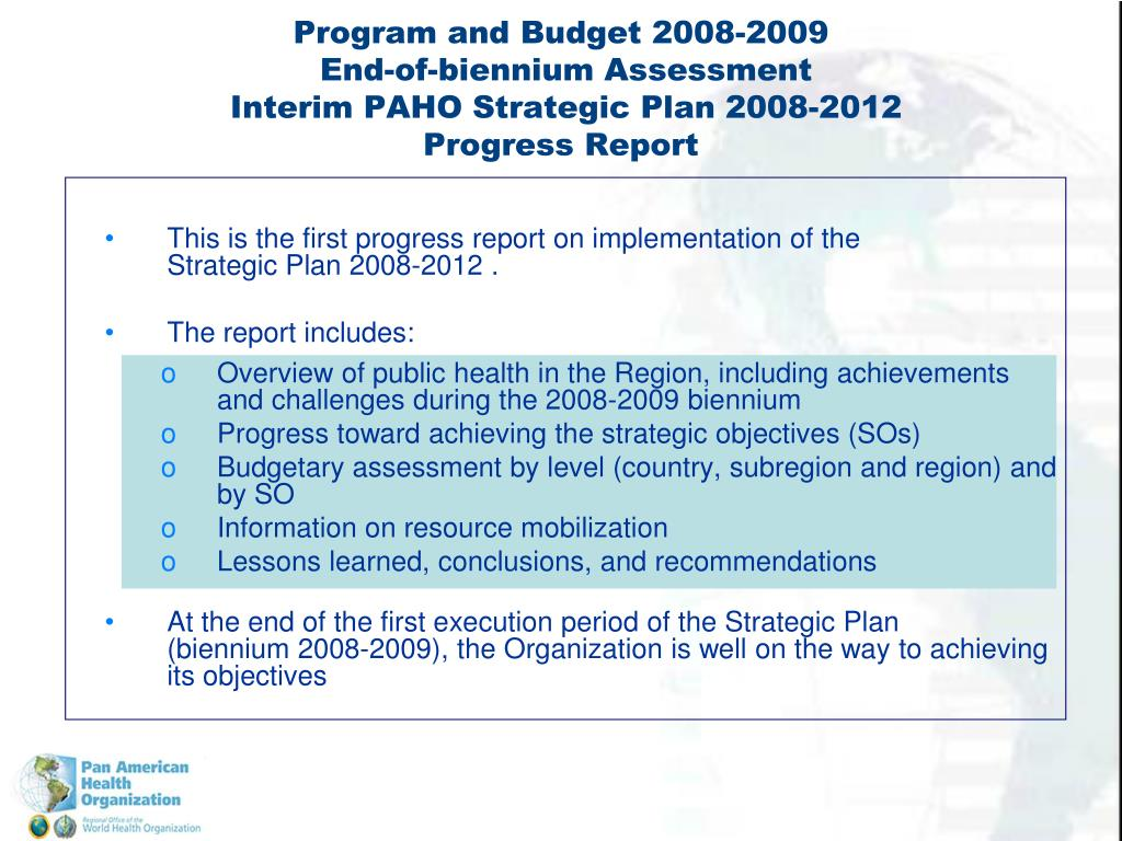 This is the first progress report on implementation of the