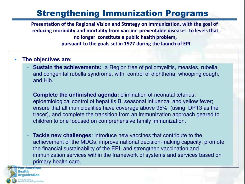 Strengthening Immunization Programs