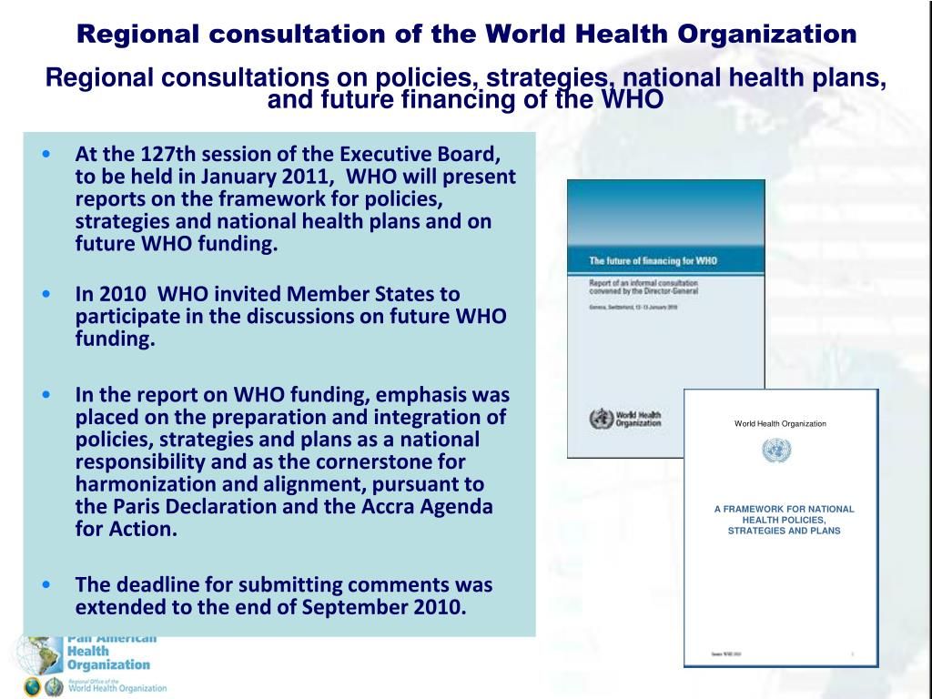 Regional consultation of the World Health Organization