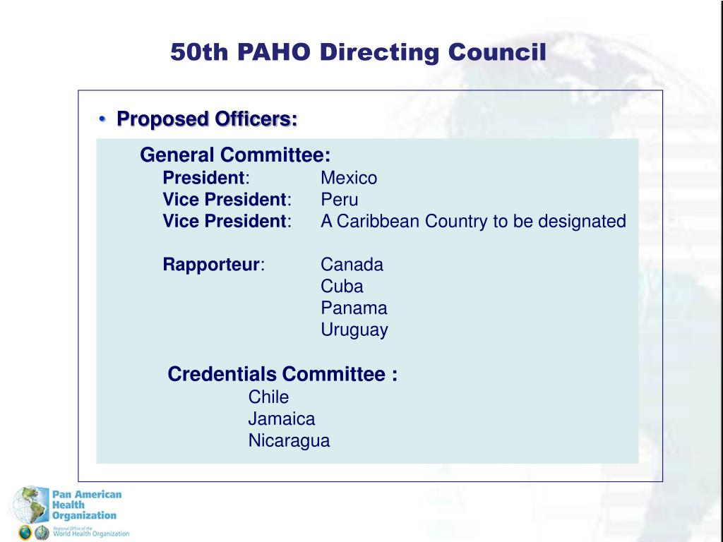 50th PAHO Directing Council