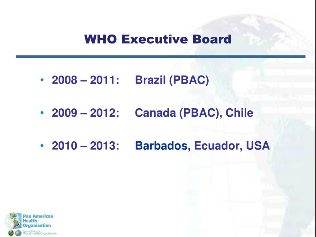 WHO Executive Board