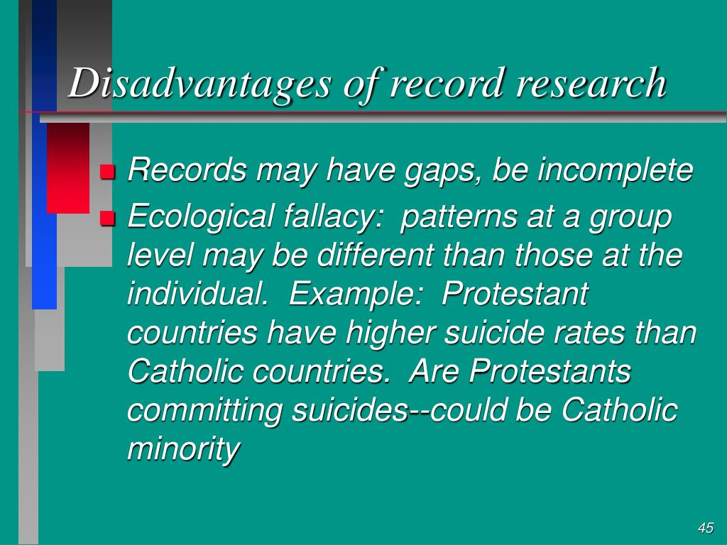 Disadvantages of record research