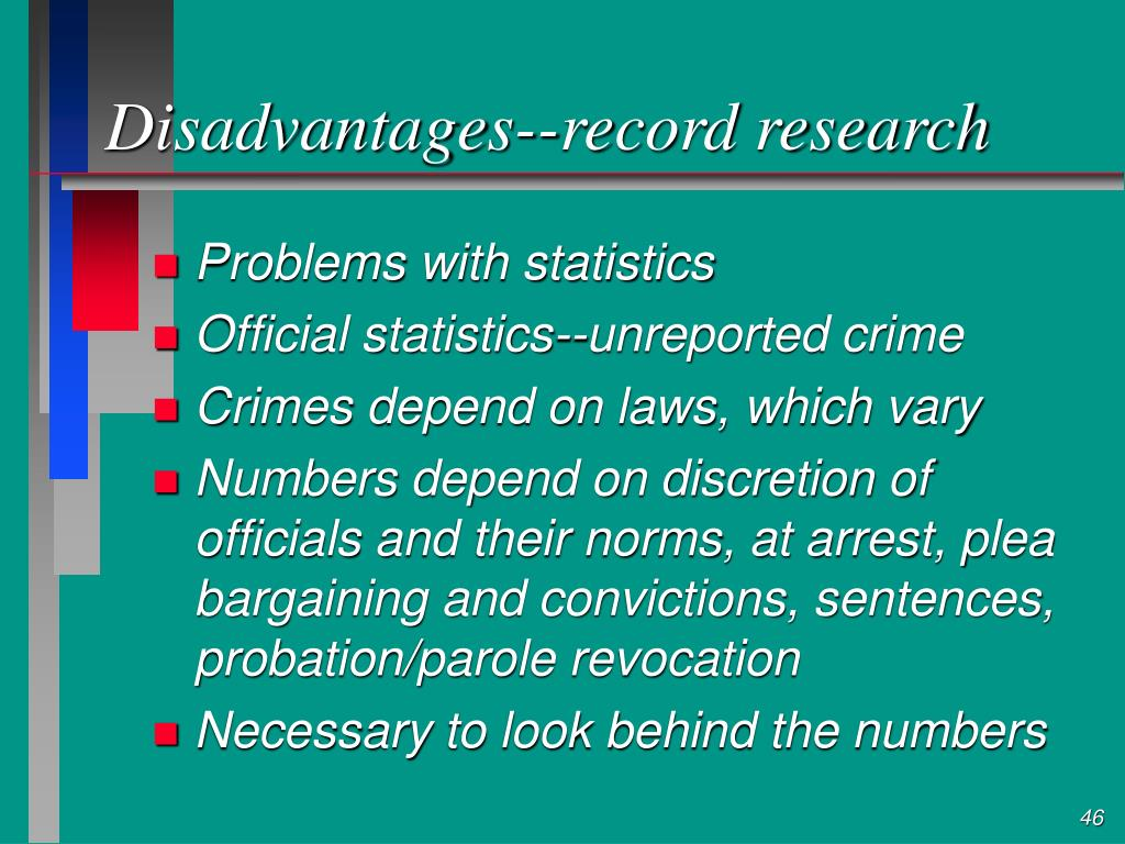 Disadvantages--record research