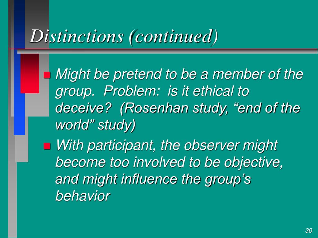 Distinctions (continued)