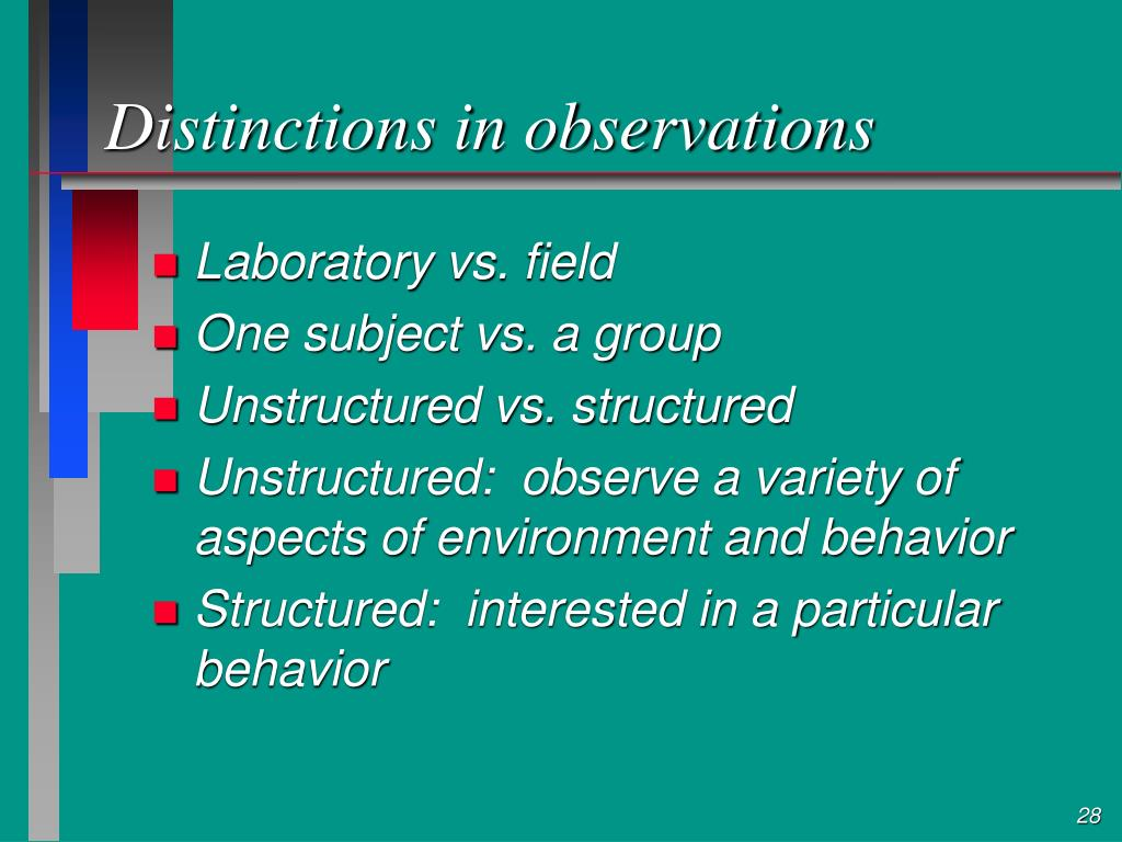 Distinctions in observations