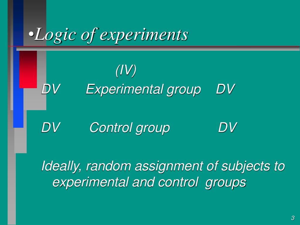 Logic of experiments
