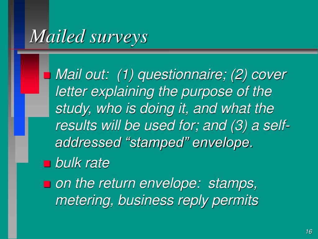 Mailed surveys