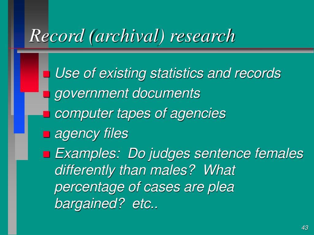 Record (archival) research